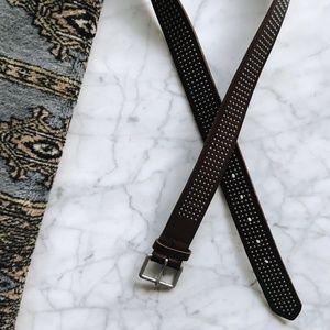 Banana Republic Dark Brown Leather Studded Belt M